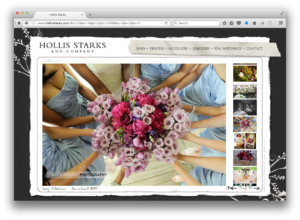 Hollis Starks Wedding Planner Website