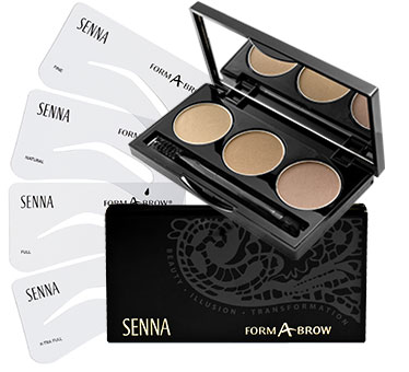Professional SENNA cosmetics eye brow makeup compact
